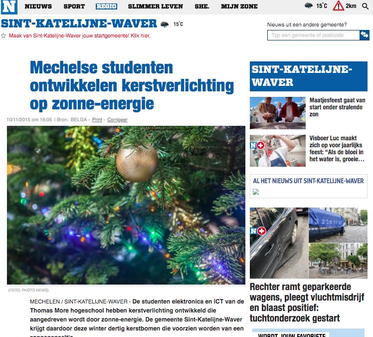 Nieuwsblad 10/11/2015