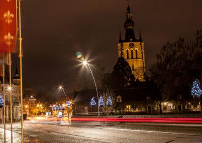 Aarschot straatverlichting kerstboom warmlicht - 1