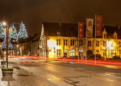 Aarschot straatverlichting kerstboom warmlicht - 3